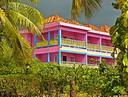 Storm Prints Photo Prints - Hotel Jamaica Print by Linda Bianic