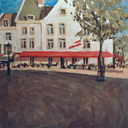 Nederland Paintings - Hotel La Colombe Early Autumn by Nop Briex