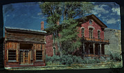 Historic Buildings Posters - Hotel Meade - Bannack Ghost Town Poster by Thomas Schoeller
