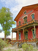 Historical Buildings Posters - Hotel Meade Bannack Montana Ghost Town Poster by Jennie Marie Schell