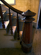 Bannack Montana Prints - Hotel Meade Grand Staircase Finial Post Print by Daniel Hagerman