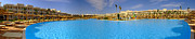 Pool Break Prints - Hotel Resort Panorama Print by Antony McAulay