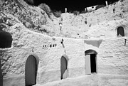 Dug Out Framed Prints - hotel room cave accomodation Sidi Driss Hotel underground at Matmata Tunisia scene of Star Wars films Framed Print by Joe Fox