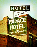 Old Sign Prints - Hotel Sign Print by Ann Powell