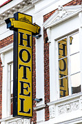 Stop Sign Photos - Hotel Sign Lund by Antony McAulay