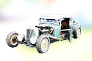 White Walls Framed Prints - Hotrod Art Model A Pickup Framed Print by Steve McKinzie