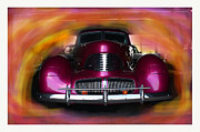 Hotrod Pyrography Posters - Hotrod Classic Car Poster by Doug Walker