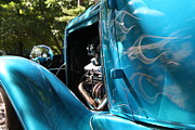 Hotrod Photos - Hotrod Ghost Flames by Heather Allen