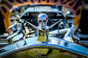 Chrome Skull Framed Prints - Hotrod Skull Framed Print by David Morefield
