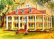 Southern Plantation Paintings - Houmas House Wedding by Diane Millsap