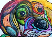 Colorful Originals - Hound Dog Painting by Eloise Schneider