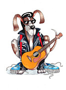 Guitar Drawings Posters - Hound Dog Poster by Ruth Brown
