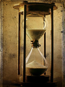 Clock Metal Prints - Hourglass  Metal Print by Bernard Jaubert