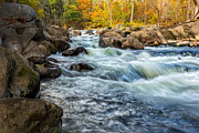 Water Flowing Framed Prints - Housatonic River Autumn Framed Print by Bill  Wakeley