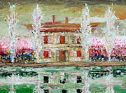 Property Painting Prints - HOUSE and RIVER Print by Fabrizio Cassetta