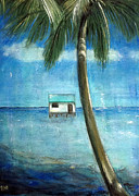 House Pastels - House and water by AnkkArt
