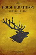 Guillaume Bachelier Framed Prints - House Baratheon Framed Print by Guillaume Bachelier