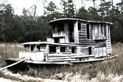 House Digital Art Originals - House boat by Darrell Johnson