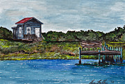 Sheena Prints - House by the Sea Print by Sheena Bolken