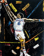 Julius Erving Framed Prints - House Call Framed Print by Wayne LE ONE
