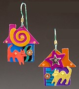 Animals Jewelry Originals - House Cats by Barbara Lager