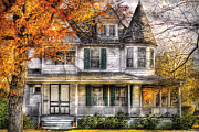 Real-estate Prints - House - Classic Victorian Print by Mike Savad