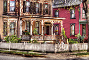 Victorian Inn Prints - House - Country Victorian Print by Mike Savad