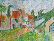 House Pastels - House in Auvers by Alana Monet-Telfer