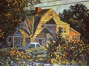 Suburban Paintings - House in Christiansburg by Kendall Kessler