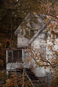Haunted House Posters - House in Fall Poster by Margie Hurwich