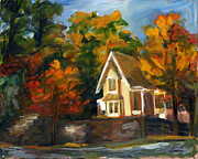 Eureka Painting Framed Prints - House in the Sun Framed Print by Jessica Cummings