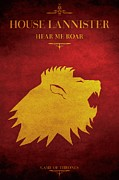 Guillaume Bachelier Framed Prints - House Lannister Framed Print by Guillaume Bachelier