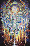 Visionary Art Paintings - House of Many Mansions by Kuba Ambrose