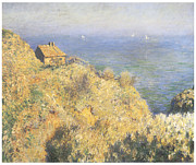 Impressionism Prints - House of the Fisherman Varengeville Print by Claude Monet
