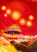 Cosmic Painting Originals - House of the Rising Suns by Murphy Elliott