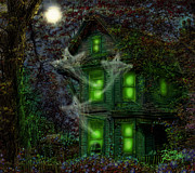 Haunted Digital Art - House on Haunted Hill by Doug Kreuger