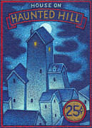 Haunted Drawings Prints - House On Haunted Hill Print by Thomas Sciacca