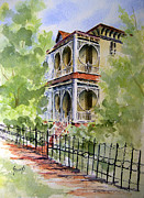 Eureka Springs Painting Prints - House on Spring Street Print by Sam Sidders