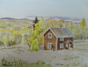 Picturesque Painting Prints - House On The Hill Print by Martin Howard