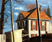 Cape Cod Paintings - House On The Hill On Spring Street by Charlie Spear