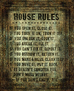 House Rules Print by Bruce Stanfield