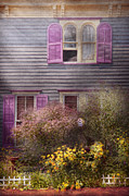 Lilacs Framed Prints - House - Victorian - A house to call my own  Framed Print by Mike Savad
