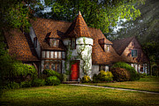 Whimsical Photo Prints - House - Westfield NJ - Fit for a king Print by Mike Savad
