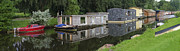 Ark Prints - Houseboats In Canal Print by Hans Engbers