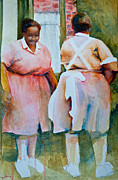 Servants Painting Framed Prints - Housekeepers of Soniat House Framed Print by Jani Freimann