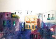Gianni Raineri Prints - Houses Print by Gianni Raineri