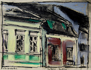 Romania Pastels - Houses In Transylvania 2 by EMONA Art
