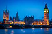 Night Lamp Prints - Houses of Parliament Print by Inge Johnsson