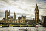 Westminster Palace Photos - Houses of Parliament on The Thames by Heather Applegate