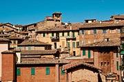 Houses Photographs Framed Prints - Houses Siena Italy Framed Print by Xavier Cardell